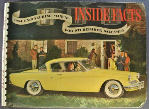 1954 Studebaker Inside Facts Book Commander Champion Starliner Wagon Original 54