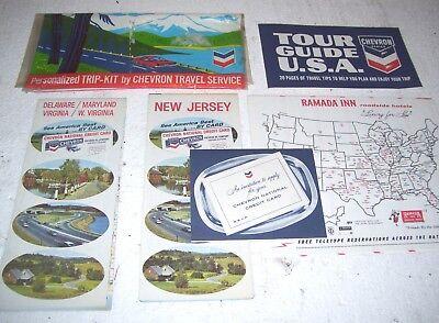 Chevron 1967 Trip Kit Tour Guide Maps Credit Card Ramada Inns