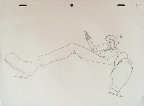COWBOY BEBOP SPIKE ANIME PRODUCTION GENGA DOUGA SKETCH