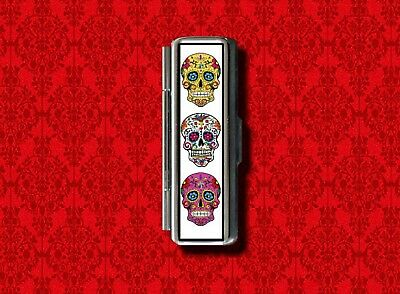 SUGAR SKULL DAY OF THE DEAD LIP BALM GUM COTTON SWAB MAKEUP LIPSTICK CASE - Sugar Skull Makeup