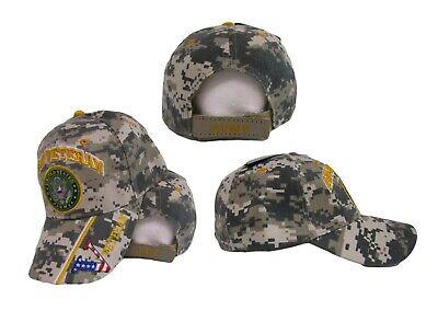 "U.S. Army Veteran Vet USA Flag ""V"" ACU Digital Camo Embroidered Cap Hat CAP591BC"