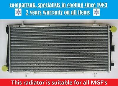 BRAND NEW RADIATOR ROVER MG MGF 16 PETROL  18 PETROL 1995 TO 2002