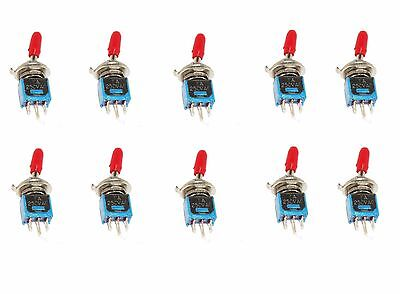 10 Onoffon Spdt Red Handle Subminiature Toggle Switch
