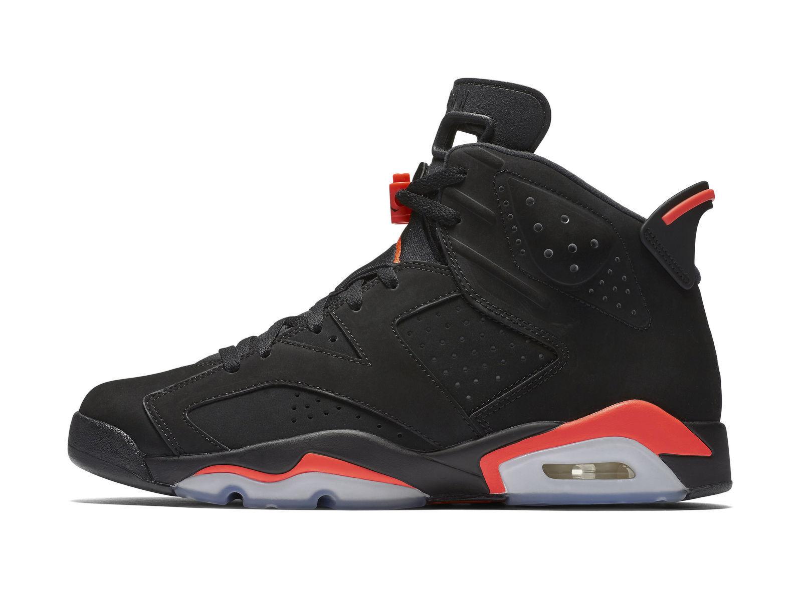 info for b7d76 e8f9c Nike Mens Air Jordan 6 Retro Black Infrared 23 384664-023 for sale ...