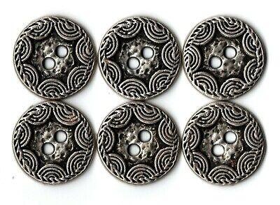 6x Ungewöhnlich Metall Gothic Spinnennetz Knöpfe ~ 14mm, 17mm Oder 20mm