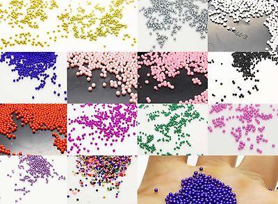 12 g Glass Micro Beads No Hole 1.5 mm- 2mm Nail Art Caviar Marbles Micro beads - Marble Beads