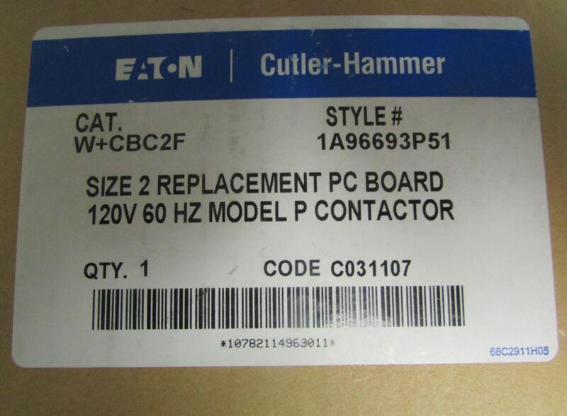 EATON CUTLER HAMMER W+CBC2F Advantage W200 Size 2 Contactor PC Board 1A96693P51