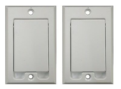 2  Central Vacuum Square Door Inlet Wall Plate White For Nutone Beam Vacuflow