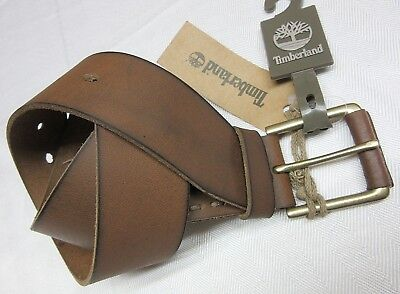 TIMBERLAND MENS GENUINE LEATHER BELT BRASS BUCKLE size 36 NEW W/TAG MSRP$55.00
