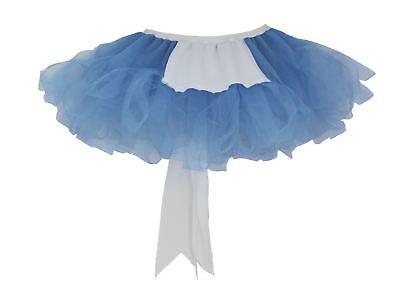 Ladies Blue Alice in Wonderland Cyber Tutu with White Mini - Tutu Alice In Wonderland Costume