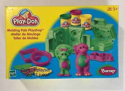 Play-Doh Barney Molding Pals Playshop In Box 1993 Complete Set with Original Box