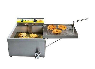 25 Lb Funnel Cake Donut Elephant Ear Deep Fryer 120v Commercial Restaurant Nsf