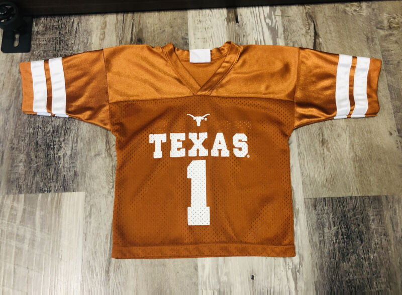 University Texas Football Longhorn Jersey Top Shirt Kids Toddler Size  2T