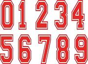 Race Car Number Decals