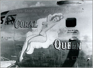 Photo: Nose Art: Coral Queen, B-29 Superfortress, WWII
