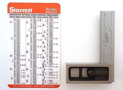 Lot 4  Igaging 4R  8 16 32 64Th   Double Machinist Square Plus Starrett Card