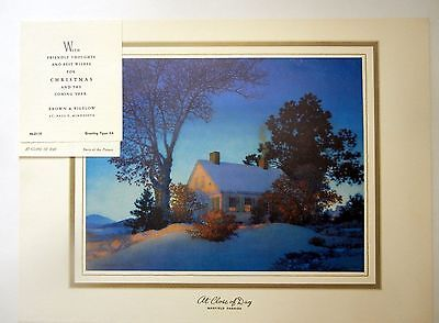 """LARGE 1957 B&B LG Tintogravure Litho MAXFIELD PARRISH """"At Close of Day"""" - SAMPLE"""