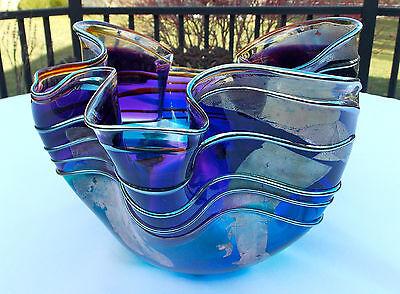 FABULOUS SIGNED SCOTT & LAURA CURRY 1996 ART GLASS BOWL