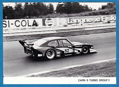 vintage photo Zakspeed Ford Capri S Turbo Group V race car auto PKW foto ca 1980