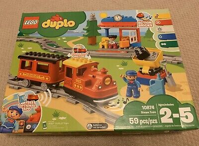 Lego Duplo 10874 Steam Train Remote Control Building Blocks
