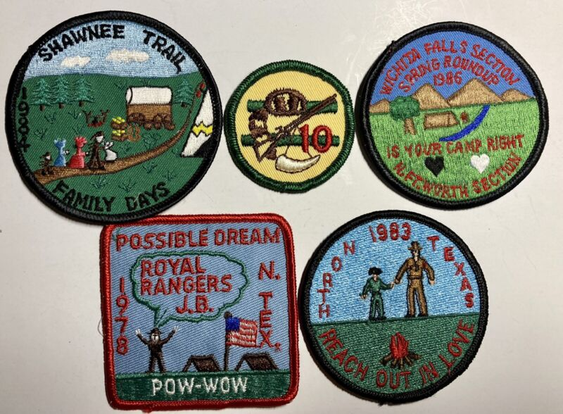 ROYAL RANGERS Patch Lot Vintage Mixed Group Of 5 RR