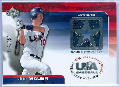 JOE MAUER 2004 04 UPPER DECK USA GAME USED JERSEY SP/850