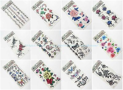 10 sheets temporary tattoo temporary body tattoos for women
