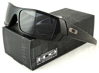 New Oakley Gascan Sunglass Polished Black l Grey 03-471