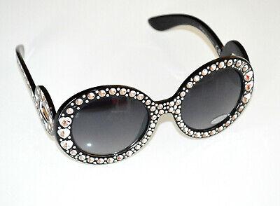 Gafas de sol mujer negras efecto cristales transparentes lentes Sun glasses BB10