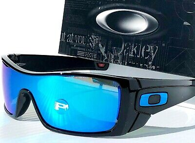 NEW* Oakley BATWOLF Black POLARIZED Galaxy Sapphire Blue Sunglass 9101