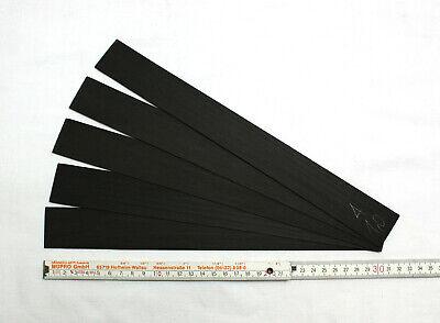 5 Ebenholz Späne 300 x 33 x 1,5 mm geschliffen Violine Geige Viola Restaurierung