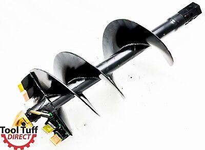 Industrial Duty Skid Steer Earth Auger Bit 15 Diameter 2 Hex Drive
