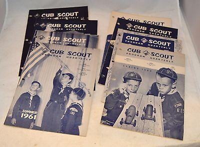 Vintage Lot 1960-1962 Cub Scout Program Quarterly Den Pack Meeting Idea Books
