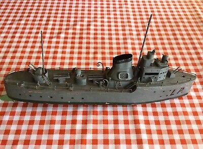 Modellino Nave Guerra Cacciatorpediniere LAMPO anni 30 Marina Militare Italiana