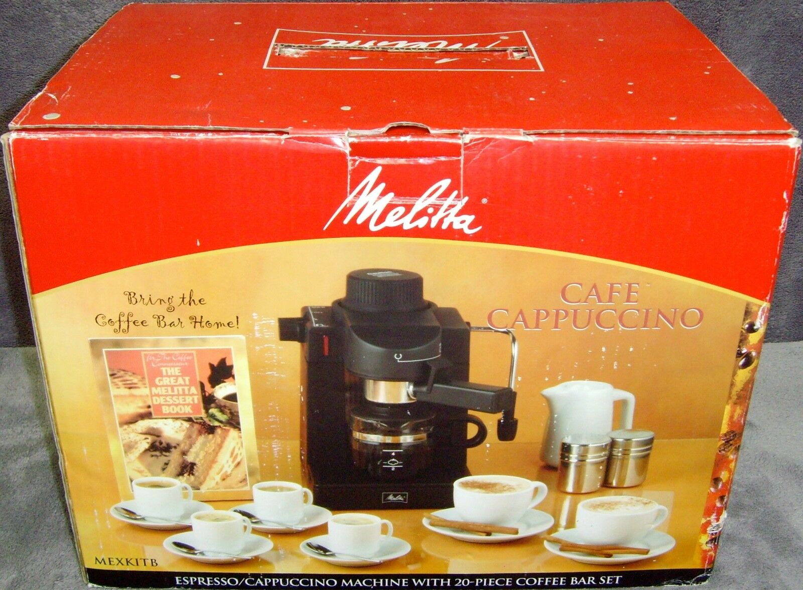 new in boxespresso cappuccino machinemexkitbw 20 piece