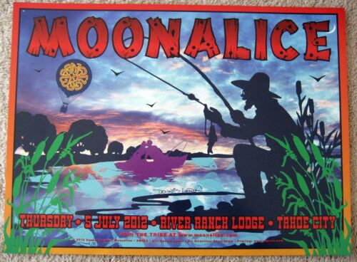 2012 MOONALICE DENNIS LOREN SIGNED RIVER RANCH LODGE TAHOE CITY POSTER