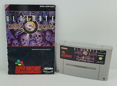 ULTIMATE MORTAL KOMBAT 3 - Super Nintendo SNES - PAL - Italiano - Usato, usado comprar usado  Enviando para Brazil