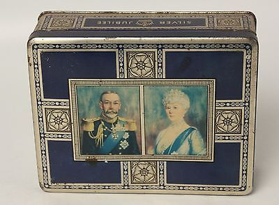 McVitie & Price George V Queen Mary Silver Jubilee Biscuit Tin 1935