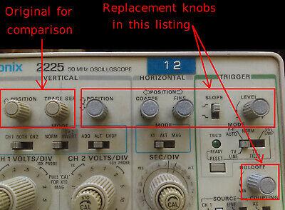 Tektronix 366-0636-00 366063600 Replacement Oscilloscope Knob Grey