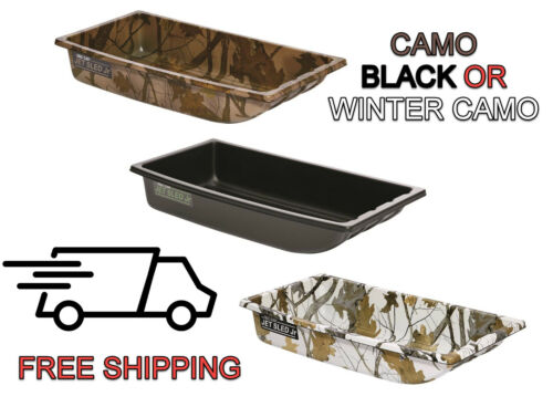 Shappell Jet Sled Jr Junior Camo Winter Camo Black Ice Fishing Downed Game Decoy