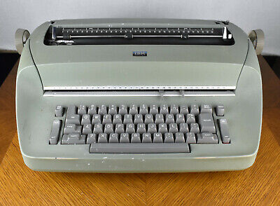 Vtg Ibm Selectric Model 72 Electric Typewriter Green 1960s For Parts Or Repair