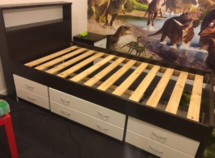 King single bed with draws