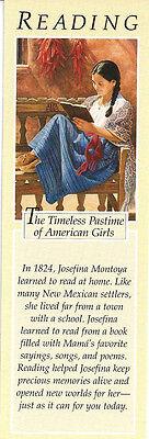 RETIRED AMERICAN GIRL JOSEFINA BOOKMARK! EARLY PLEASANT COMPANY READING BOOKMARK