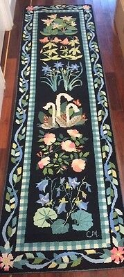 "Claire Murray Rug Vintage Floral ""NE Wildflower"" 100% Wool Hand Hooked Beauty!"