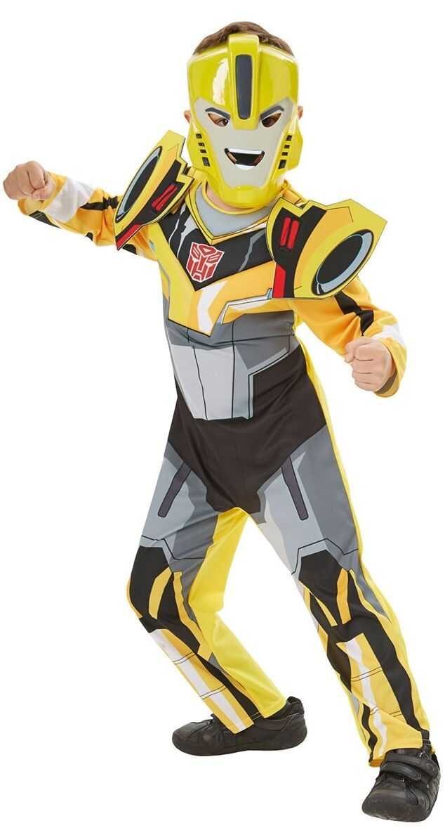 Bumble Bee /& Optimus Prime Boys Fancy Dress Transformers Robot Superhero Costume