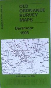 OLD ORDNANCE SURVEY MAP DARTMOOR DEVON  1908 Sheet 338 Brand new