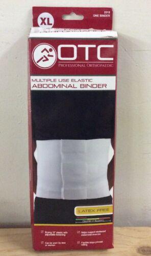 OTC Multiple Use Elastic Abdominal Binder White XL 2518-XL N