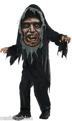 Boys Dead Walker Mad Creeper Zombie Reaper Horror Halloween Costume Fancy Dress ()