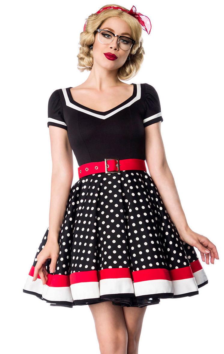 50er Jahre Pin Up Vintage Rockabilly Kleid Tanzkleid Retrokleid / Petticoat Rock