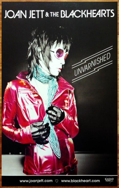 JOAN JETT & THE BLACKHEARTS Unvarnished New RARE Tour Poster +FREE Rock Poster!
